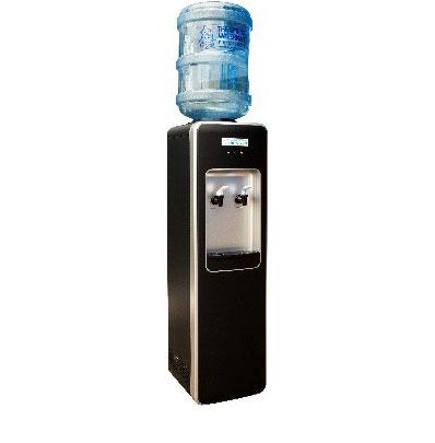 Black/Silver floor standing Executive Water Cooler spring water man