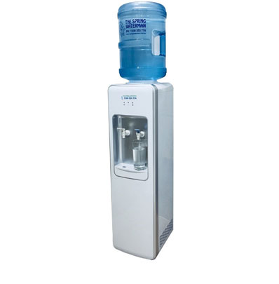 White/Silver floor standing Executive Water Cooler spring water man