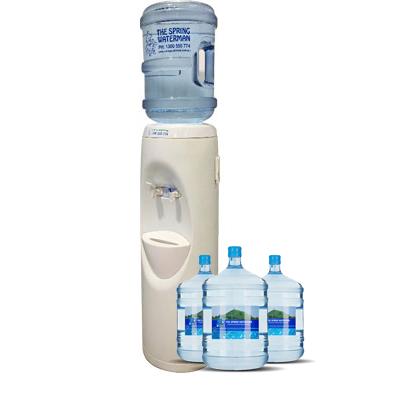 White floor standing Water Cooler spring water man